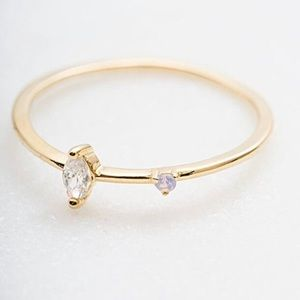 On Trend Dainty CZ Ring, 6 or 7